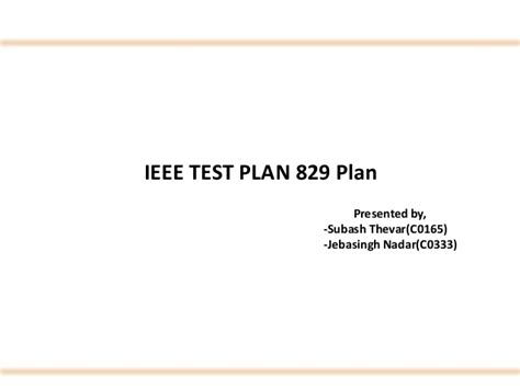ieee 829 test plan template ieee software testing test cases on quot website builder quot