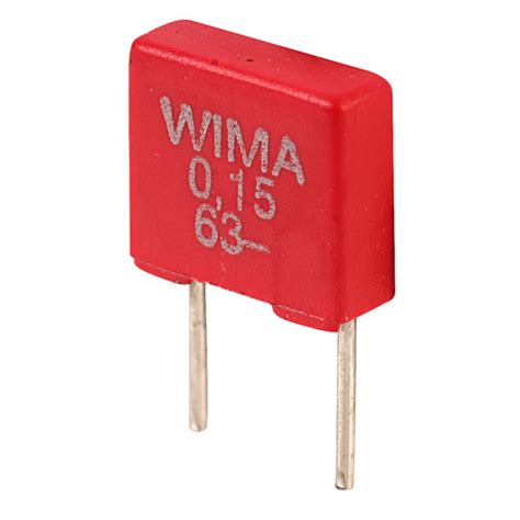 wima polyester capacitors wima mks2c031501a00ks mks2 0 15uf 177 10 63v radial polyester capacitor rapid