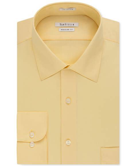 light yellow mens dress shirt heusen s big and fit solid dress