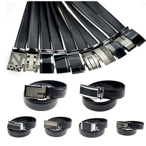 10 types leather belts for automatic buckle 2015