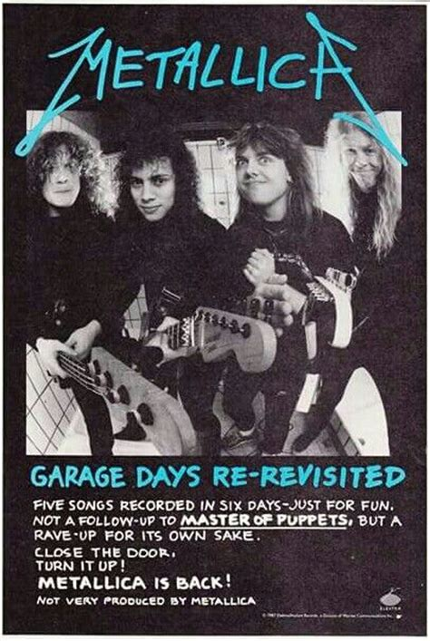 Garage Days Re Revisited by Garage Days Re Revisited Promotional Poster Metallica