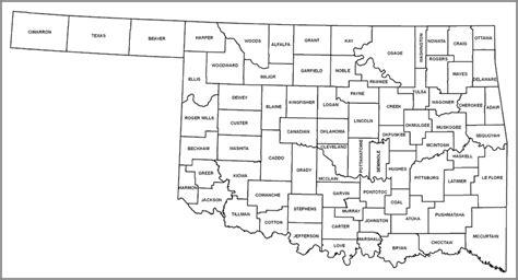 map of oklahoma counties best photos of oklahoma county map printable oklahoma
