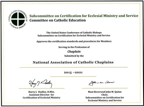 buying a house without completion certificate certification the national association of catholic chaplains