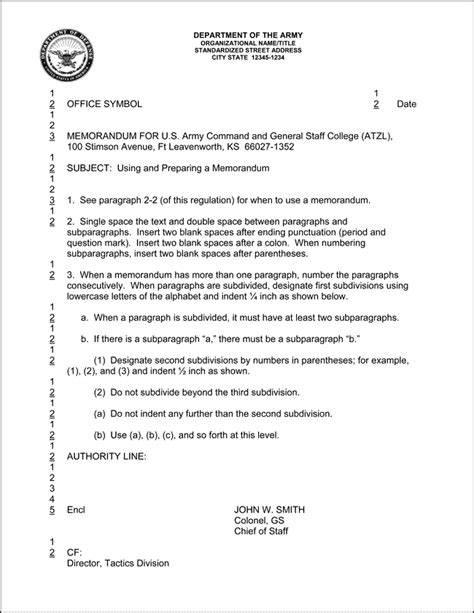 army memorandum template 10 best images of army informal memorandum exle