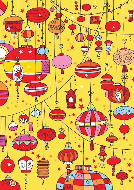 new year themed paper lanterns scrapbook paper