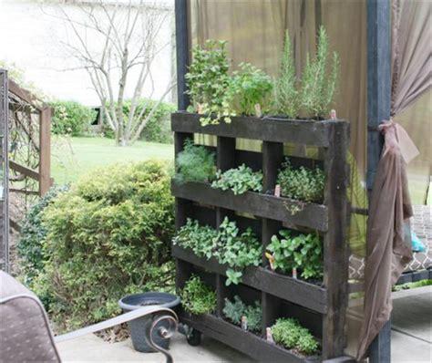 wood pallet vertical garden diy wood pallet herb garden tutorial 99 pallets