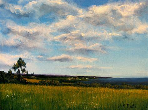 Peinture Paysage marin et ciel nuageux X 23