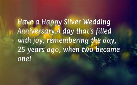 25th anniversary wishes happy silver wedding anniversary messages wooinfo