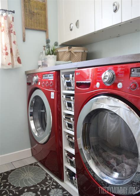 Staining Old Kitchen Cabinets vintage red and aqua small laundry room design ideas the