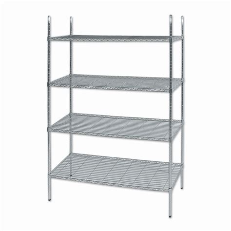 chrome wire mesh shelving 2030 x 1800 x 460mm