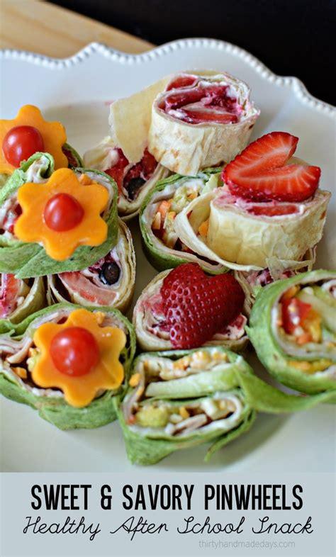 sweet savory pinwheels healthy  school snack