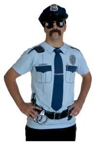 Cops Halloween Costume Men Police Uniform Costume Shirt
