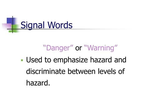 classification pattern signal words ppt the globally harmonized system ghs for hazard