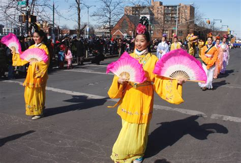 new year parade characters new york city falun gong participates in new year