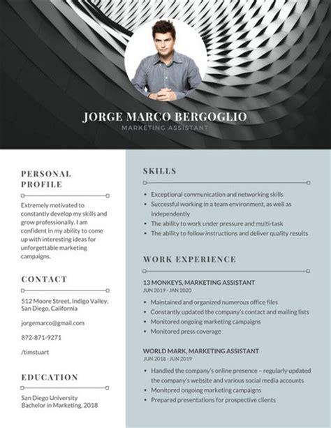 modern gray resume template make landscape and profile photo black white yellow resume