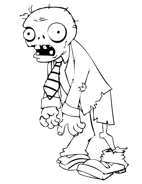 coloring page of a zombie plants vs zombies coloring watermelon coloring pages