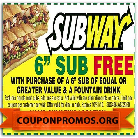 printable subway coupons canada 17 best images about coupons 2015 printable for free on