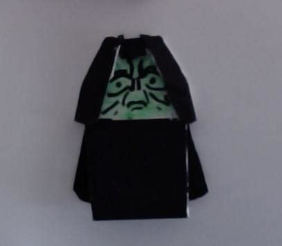 How To Make Origami Emperor Palpatine - original puppetine origami yoda
