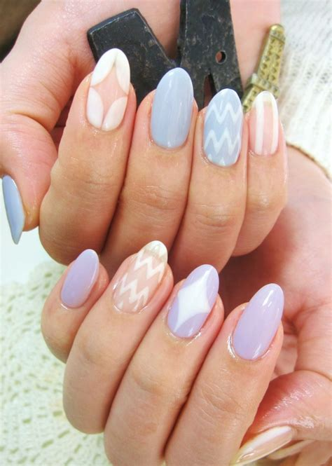 almond nails look of almond nails and gorgeous pastel almond nail manicure almond nails