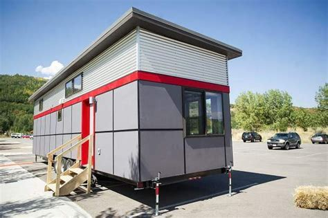 Aspen Employee Housing by Aspen Skiing Co Shows Model Tiny Home To Prospective