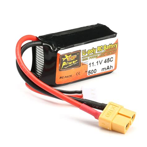 Lipo Battery 3s 11 1v 500mah 45c Jst Xt60 Zop Power For Micro zop power 11 1v 500mah 45c 3s lipo battery xt60 ebay