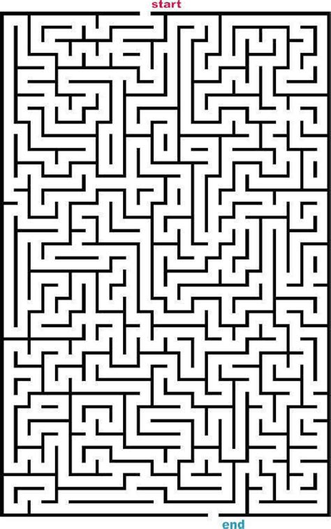 printable rectangular mazes mazes to print medium rectangle mazes