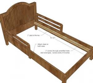white build a traditional wood toddler bed free and easy diy project and furniture plans