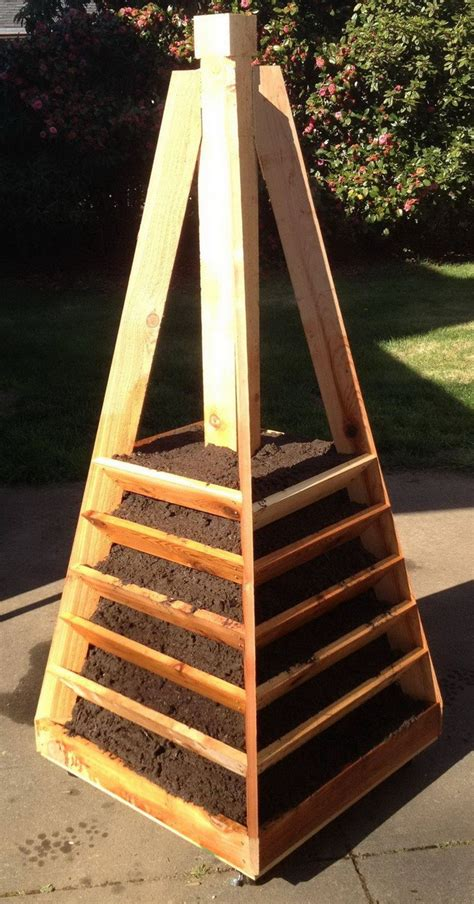 Vertical Garden Tower by How To Build A Vertical Garden Pyramid Tower For Your Next