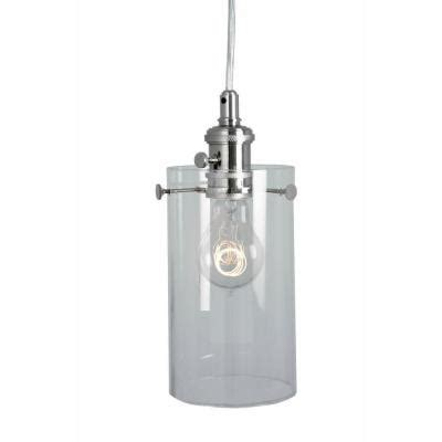 home decorators lighting home decorators collection 1 light clear glass ceiling cylinder pendant 25390 32 the home depot