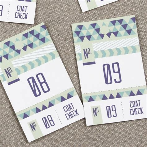 coat check tickets template triangular coat check printable by basic invite