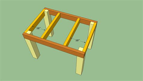 how to build a table patio table plans howtospecialist how to build step