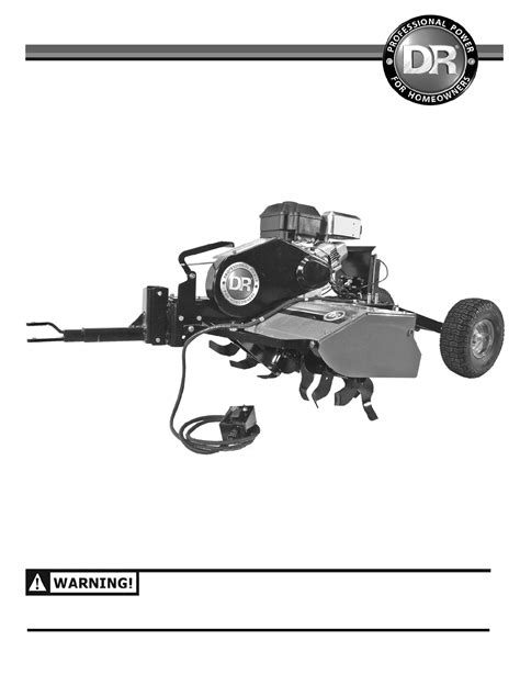 country home products tiller roto hogtm user guide
