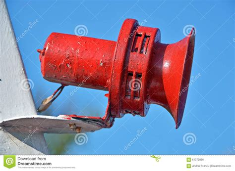 old boat horn red boat horn stock photo image 61372896