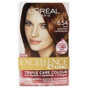 pictures of who colored their hair with loreal feria b16 buy l oreal paris excellence hair colour light mahogany