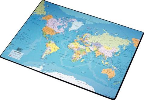buro onderlegger bol esselte bureau onderlegger wereldkaart