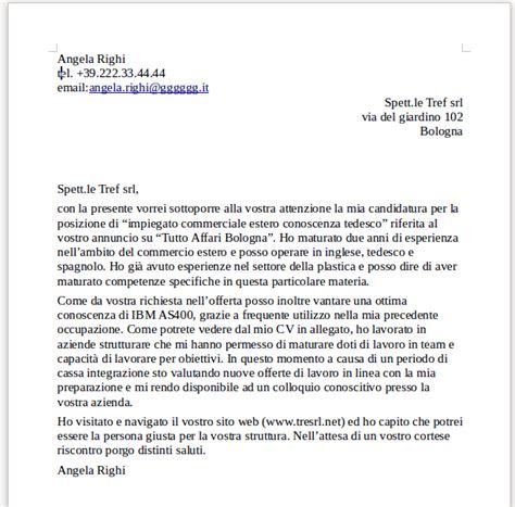 lettere commerciali italiano esempi 187 lettera di presentazione esempi modelli e consigli pratici
