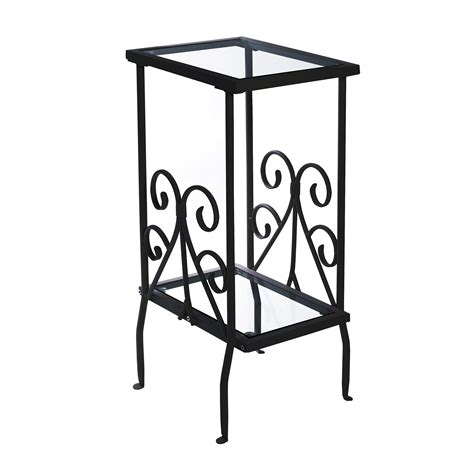 black metal accent table pia glass top accent table black metal side table modern