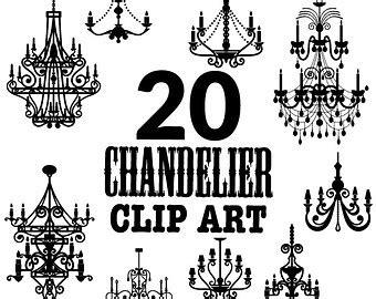 Chandelier Clip Free Silhouette