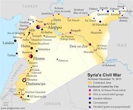Syria Civil War Map by Syria Civil War Map December 2013 12 Political