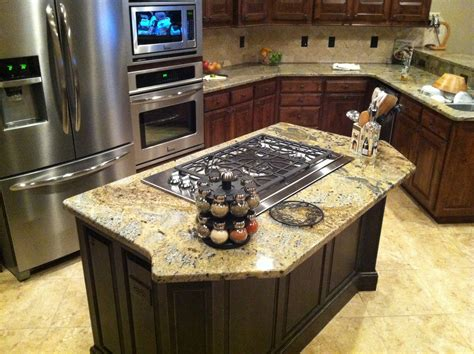 kitchen stove island island with cooktop kitchen island gas cooktop gibson les paul kitchens and all their
