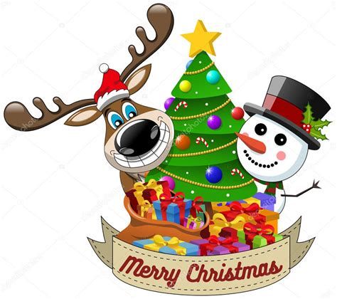 imagenes de feliz navidad hipster dibujos animados graciosos renos y mu 241 eco de nieve