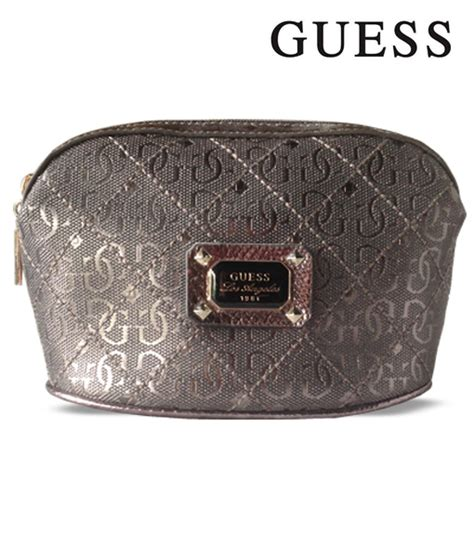Guess What This Is For And Makeup by Guess Small Pewter Makeup Bag Finga Nails