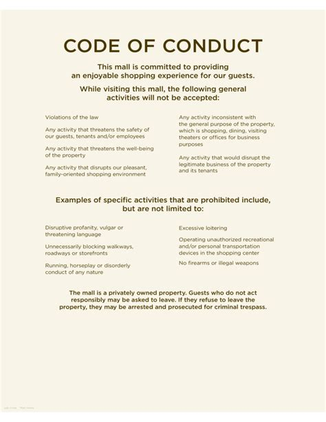 free resume ethics templates code of conduct sle free