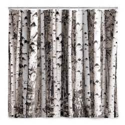 Shower Curtains With Trees Birch Forest Shower Curtain Tree D 233 Cor Bath Accessories Uncommongoods