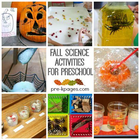 science themes in kindergarten fall science activities for preschool