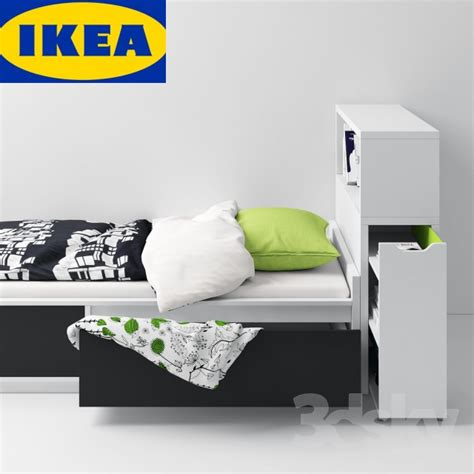 flaxa ikea hack 3d models bed ikea flaxa bed headboard jugend