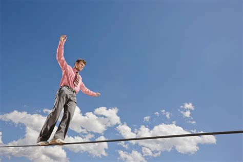 tight rope ex ceed temptations to panic to calmly resist