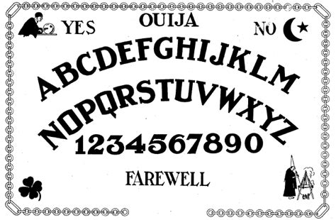 printable ouija board template magic