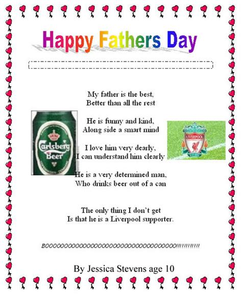 Funny fathers day poems birthday