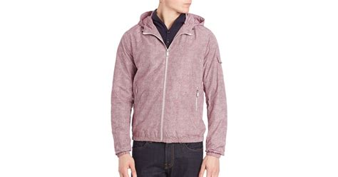 Siren Parka Dusty Pink michael kors hooded jacket in pink for lyst